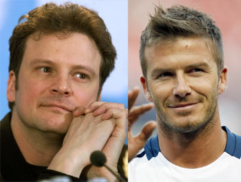 Colin Firth and David Beckham