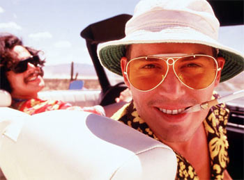 A scene from Fear And Loathing In Las Vegas