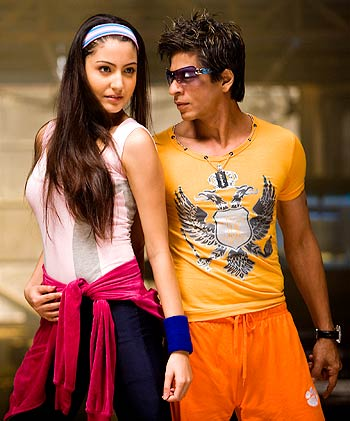 Shah Rukh Khan and Anushka Sharma in Rab Ne Bana Di Jodi