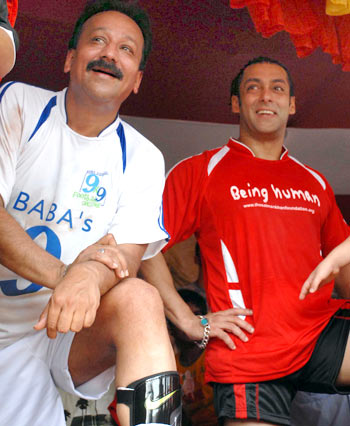 Baba Siddiqui and Salman Khan