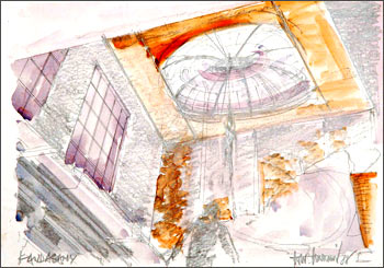 A sketch of the dome