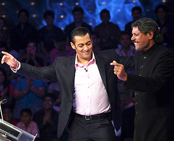 Salman Khan and Kapil Dev