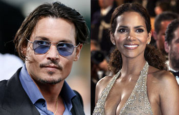 Johnny Depp and Halle Berry