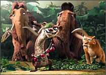 A scene from Ice Age: Dawn of Dinosaurs