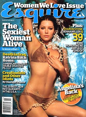 Jessica Biel on the cover of Esquire magazine
