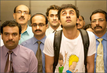 A scene from Wake Up Sid