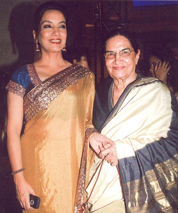 Shabana and her mother Shaukat Azmi