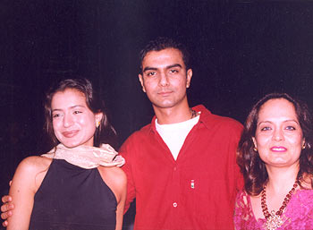 Ameesha, brother Asmit and mother Asha Patel