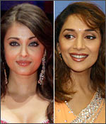 Aishwarya Rai Bachchan and Madhuri Dixit Nene
