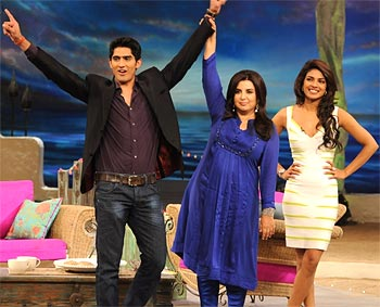 Vijender, Farah and Priyanka