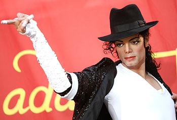 A wax figure of Michael Jackson