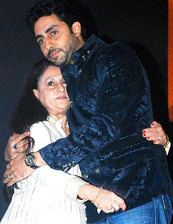 Jaya and Abhishek Bachchan