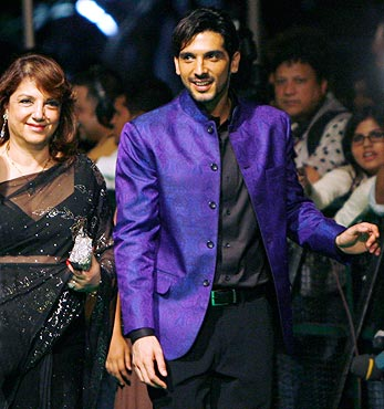 Zarine and Zayed Khan
