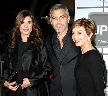 Elisabetta Canalis, George Clooney and  Nina Clooney