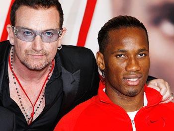 Bono and Didier Drogba