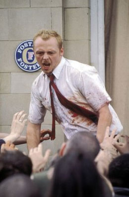 A scene from Shaun of the Dead