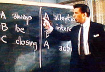 A scene from Glengarry Glen Ross