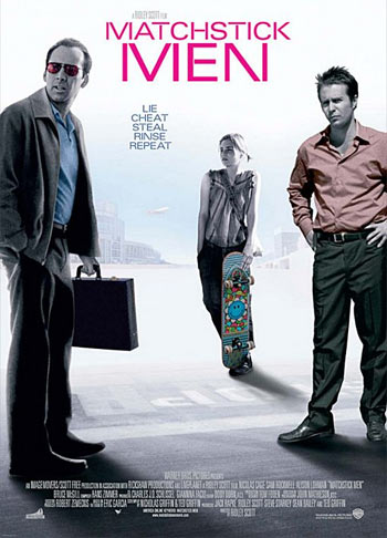 A poster of Matchstick Men