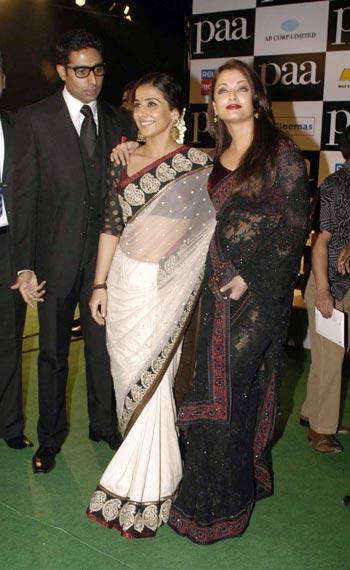 Abhishek, Vidya Balan and Aishwarya