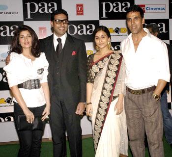 Twinkle, Abhishek, Vidya and Akshay