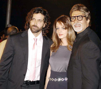 Hrithik Roshan, Suzanne and Amitabh