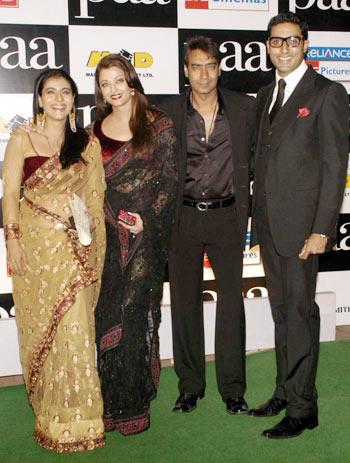 Kajol, Aishwarya, Ajay and Abhishek
