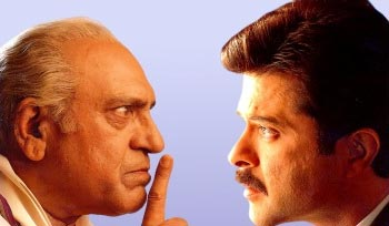 Amrish Puri and Anil Kapoor