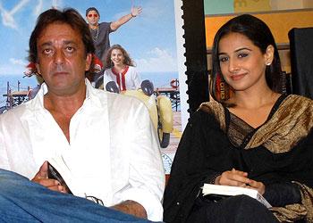 Sanjay Dutt and Vidya Balan