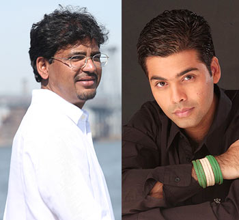 Rensil D Silva and Karan Johar