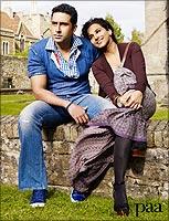 Abhishek Bachchan and Vidya Balan in Paa