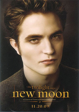Robert Pattinson in a poster from New Moon