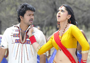 A scene from Vettaikaran