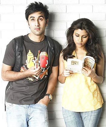 Ranbir Kapoor and Konkona Sen Sharma in Wake Up Sid