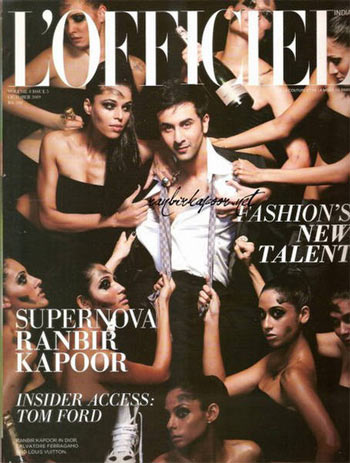 Ranbir makes the L'Officiel cover