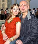 Ben Kingsley and wife  Daniela