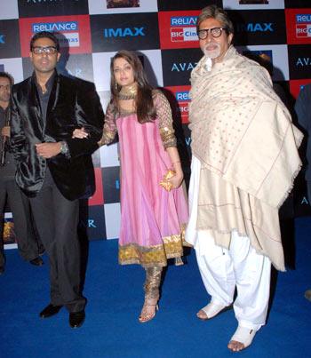 Abhishek, Aishwarya and Amitabh Bachchan