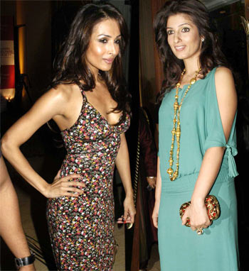 Malaika Arora Khan and Twinkle Khanna