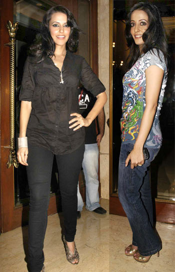 Neha Dhupia and Raima Sen