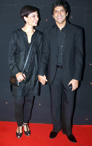 Adhuna Akhtar and Farhan