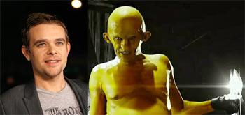 Left: Nick Stahl. Right: As The Yellow Bastard in Sin City
