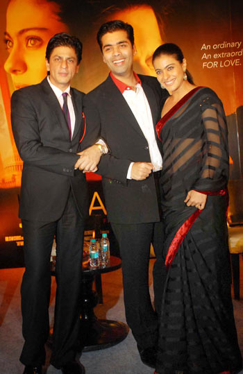 Shah Rukh Khan, Karan Johar and Kajol