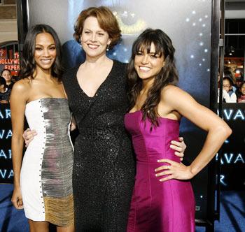 Zoe Saldana, Sigourney Weaver and Michelle Rodriguez