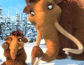 A scene from Ice Age: Dawn Of The Dinosaurs
