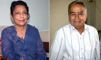 Uma Kapoor, left, and Kishore Kulkarni