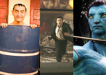 Scenes from 3 Idiots, 2012 and Avatar