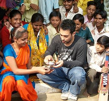 Aamir Khan in Palanpur, Gujarat