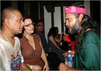 Asheem Chakravarty interacts with Rahul Ram backstage.