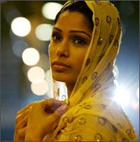 Freida Pinto in a scene from Slumdog Millionaire