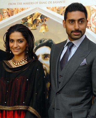 Sonam Kapoor and Abhishek Bachchan