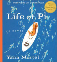 A book cover of The Life of Pie